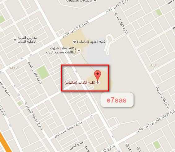 مواقع مراكز الإختبارات النهائية (خريطة